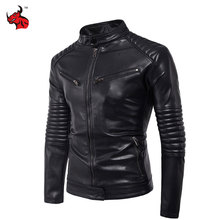 Buy New Vintage Retro Mens Slim Motorcycle Jackets Male Punk Classic Biker PU Faux Leather Moto Jacket Coat Stand Collar for $51.37 in AliExpress store