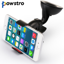Powstro Universal Car Holder Car Windshield Mount Holder phone For iPhone 5S 6 6S 7 7plus Samsung HTC LG Most phones GPS devices(China)
