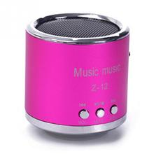 Z12 Red Mini Portable Cylinder Speaker Amplifier Music Radio Sound HIFI Support USB Micro Line in for SD TF Card MP3 Player
