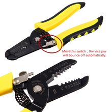 Multifunctional Wire Cable Stripper Steel Wire Stripping Pliers Cutting Stripping Hand Tool For 10-22 AWG