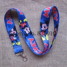 Hot Sale!  10 pcs Popular Mickey Lanyard Key Chains Mobile Cell Phone Lanyard Neck Straps   Party Favors SZ-038
