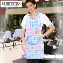 Apron Cotton Kitchen White Dots Printed Pattern Craft/ Commercial Restaurant Kitchen Bust Sleeveless Apron 1 pcs/lot Avental(China)