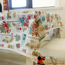 Home Table Cloth Waterproof Oilproof Square TableCloth Printed Lesbian Table Cover Overlay(China)