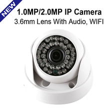 CMOS HD 720P 1080P IP Camera Audio WIFI Optional IR 20M NightVision 3.6mm Lens 1MP 2.0MP Security CCTV Camera Indoor