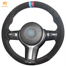 MEWANT Black Suede Car Steering Wheel Cover for BMW F87 M2 F80 M3 F82 M4 M5 F12 F13 M6 F85 X5 M F86 X6 M F33 F30 M Sport(China)
