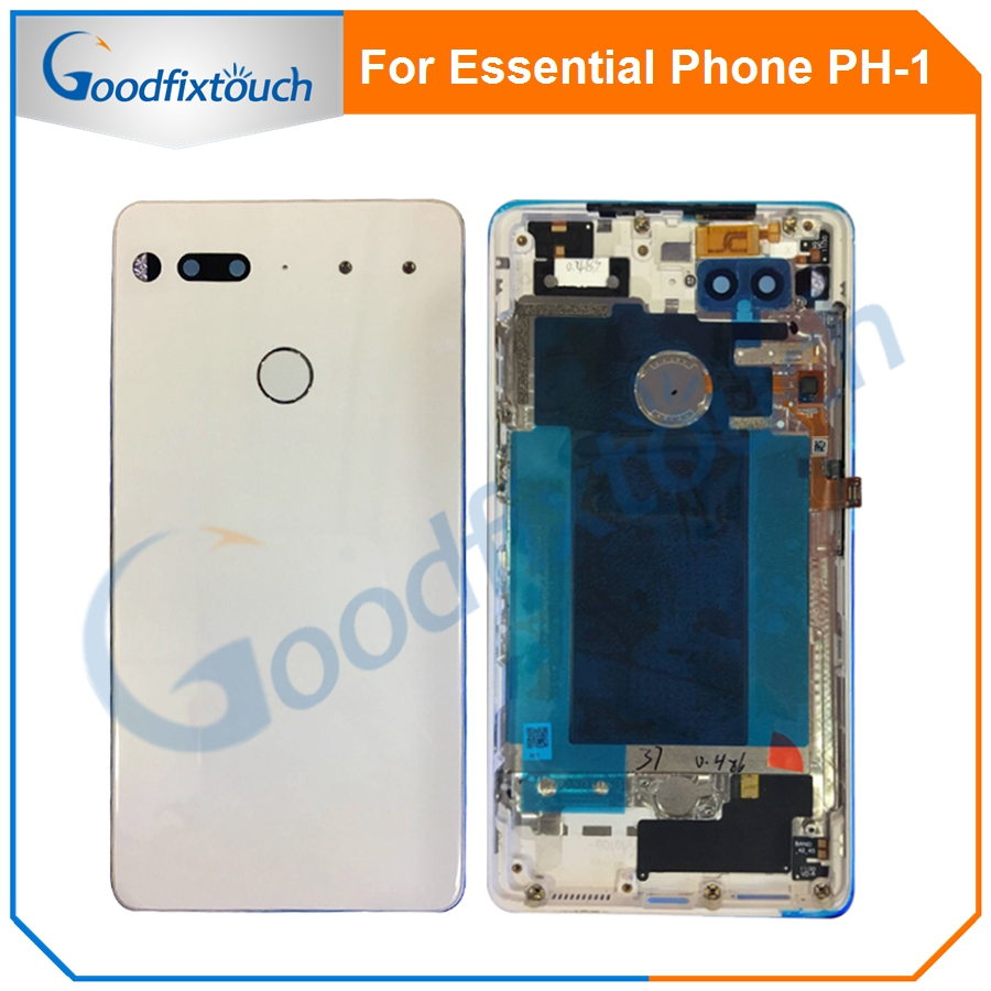 For Essential Phone Ph-1 PH 1 Rear Back Battery Cover Door Ceramics Glass Housing With Fingerprint Camera Glass Raplacement Part (8)