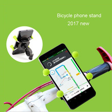 Universal Bike Phone Mount Holder/Green Motorcycle stand for 3.5-7 inch Cell Phone GPS iPhone Samsung Galaxy HTC Google Nexus(China)