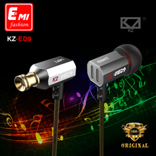 KZ ED9 Super Bowl Tuning Nozzles Earphones In Ear HiFi Earphone Heavy Bass DJ Stereo Earplug Transparent Sound noise isolating