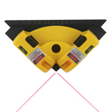 Right Angle Laser Level 90 Degree Vertical Horizontal Laser Line Projection Square Level Wire Tools with Two Suction Cups