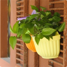 DIY Garden Hanging Wall Baskets Pot Hanging Basket Flower Pot Plastic Flower Pots hanging flower holder