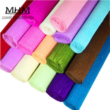 1roll/lot DIY Packaging Flower Creped Pape 250cm*50cm Tissue Paper Wrapping Fiber Texture Floral Wraps Flower Wrapping Paper(China)