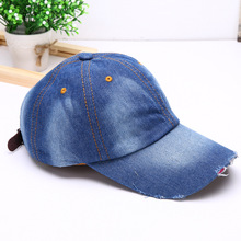 Limited Adult Cotton Denim Baseball Cap - Fashion Brand New Women Men Caps One Size Unisex Jean Hat Casual Sun #70054(China)