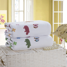 Mini cotton cartoon elephant white bath towels sports hand beach towel travel hair quick drying towel for children adults gift