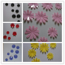 Birthday Gift Creative Acrylic Room Decals 12PCS DIY 3D PVC Flowers Wall Stickers Home TV Decor Poster for Kitchen Bathroom