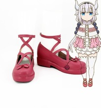 Miss Kobayashi-san Dragon Maid Kanna Kamui for adult women men halloween carnival cosplay shoes boots(China)