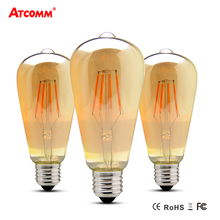 E27 LED Filament Bulb 4W 6W 8W Ampoule LED E27 Vintage Antique Retro Edison Bombillas 110V 220V Dimmable ST64 LED Diode Lampada
