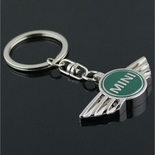 HARK 1 pcs/lot,green colors mini cooper car logo keychain/mini car key chain/Auto car key rings for mini,accessories