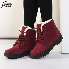 Women Boots 2017 Winter Boots Women Warm Fur Ankle Boots For Women Warm Winter Shoes Botas Mujer bota feminina (China (Mainland))