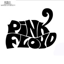 The World-famous Rock Band Pink Floyd Lettering Art Funny Car Sticker Window Car Cover Vinyl Decal 10cm * 16cm(China)