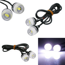 4X 10W Super Bright White/Blue/Yellow/ICE lue/Red/Green LED Eagle Eye Daytime Running DRL Light Waterproof Parking DC12V for Car(China)
