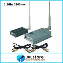 1.2G 8CHS FPV long range 3000 meters Wireless A/V Audio Video transmitter and receiver system(FOX-2500)(China)