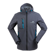 Men's Soft Shell Clothes Fashion Spring Autumn Hoodie Coat Jacket Outdoors jacket(China)