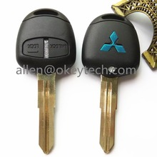 2 Buttons Transponder Car Key Shell Remote Case Fob For MITSUBISHI Lancer Evolution Grandis(right groove) with logo