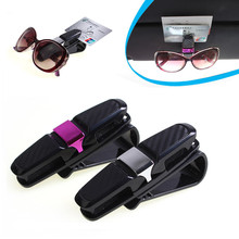 2017 New Car Auto Sun Visor Clip Holder For Reading Glasses Sunglasses Eyeglass Card Pen Clip Automotive Accessories wholesale(China)