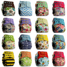 Baby Diaper Washable Baby Pocket Nappy Washable Cloth Nappy Bamboo Charcoal Reusable One Size Nappy Diaper Cover Wrap Inserts