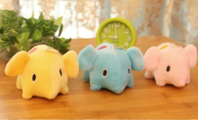 30pcs/lot new cute 10*6CM Colorful Elephants , Plush Stuffed Toy Key Chain mix colors , Plush Toy Doll
