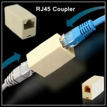 [ReadStar]100PCS/LOT RJ45 Coupler Network cable connector Female to Female cable extension Adapter Network through head(China)