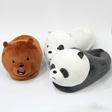 VANLED Woman Indoor Plush Cosplay Cute Animal Slippers Shoes Women Three Bear Brothers Adorable Comfortable Wholesale Soft