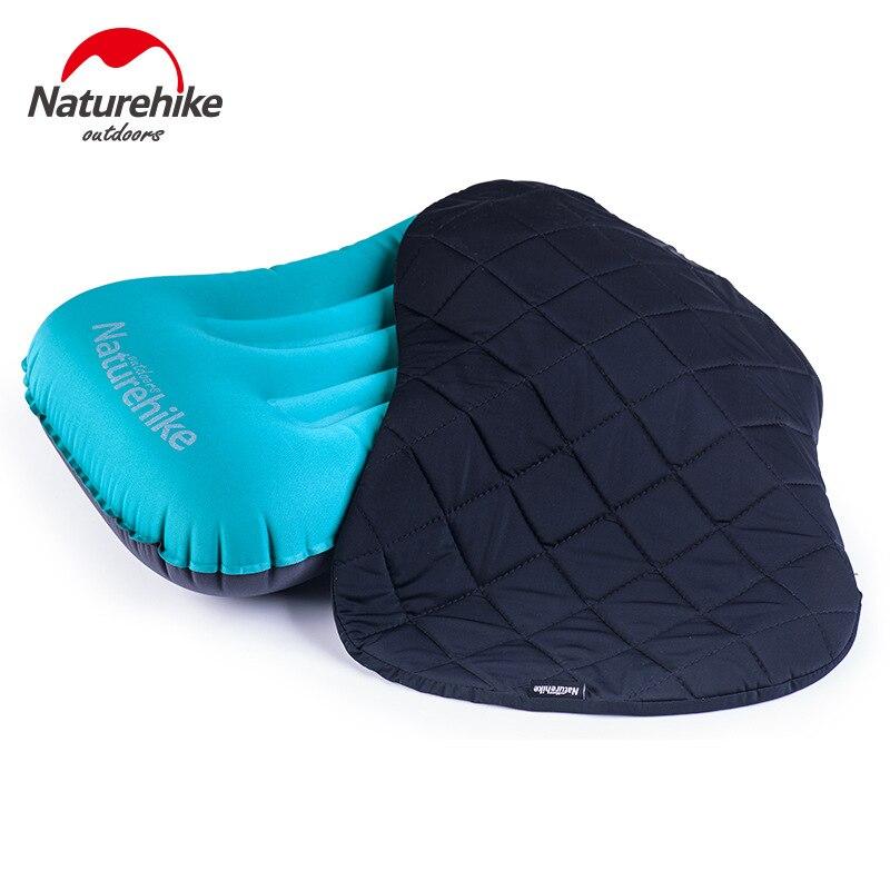 Almohadas Inflables,Almohada Hinchable,ultraligera Almohada Camping para Viaje Acampar Picnic Deportes al aire libre en color Azul Verde Naranja,50*30cm