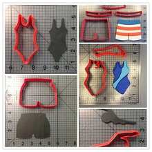 Swimmer Swimming Truck Swim Suit Custom Made 3D Printed Cookie Cutter Set