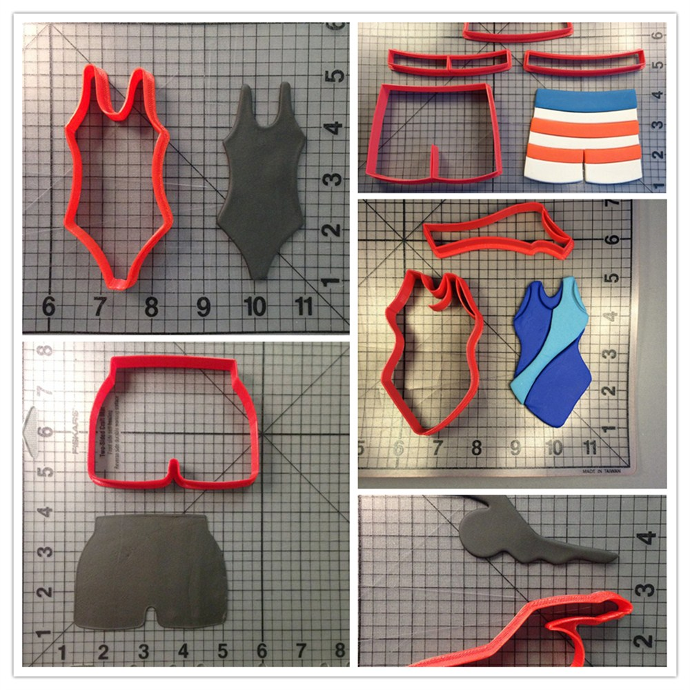 Swimmer Swimming Truck Swim Suit Custom Made 3D Printed Cookie Cutter Set(China (Mainland))
