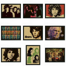 The Doors Jim Morrison Vintage Retro rock band music Guitar Matte Kraft Paper Poster Wall Sticker Home Decora(China)
