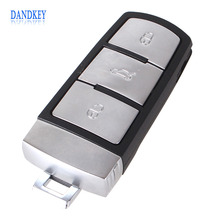 Dandkey NEW Replacement Shell Smart Remote Key Case Fob for VW VOLKSWAGEN CC Passat Magotan 3 Buttons with LOGO