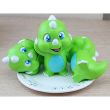 Jumbo 15 CM Green Dinosaur Anti-strss Slow Rising Squishy Toys Gags Simulation Animal Decompress Squeeze Kid Toy Wholesale P15(China)