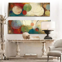 Red and blue circles modern abstract oil painting canvas prints canvas wall art cuadros decorative artist for home office