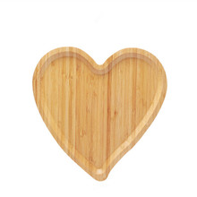 Creative Bamboo Serving Trays Modern Brief Style Heart Shape Fruits/Desserts/Cake Dish Plate Eco Natural Wood Snacks/Tea Trays
