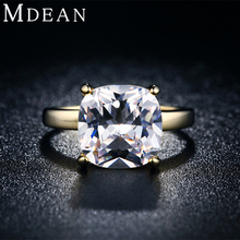 MDEAN 18KGP Gold Filled Rings For Women Bid Cubic Imitation engagement vintage Jewelry wedding ring Bijoux Accessories 18KR011