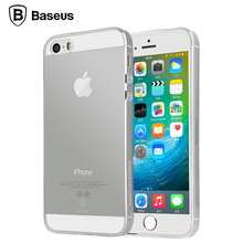 Baseus Transparent Clear Case for Apple iPhone 5 5s SE Soft Silica Gel TPU Case Silicone Cover Ultra Thin Mobile Phone Case