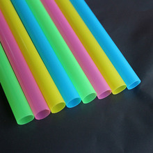 Colored Diameter 10mm Large Drinking Straws For Bubble Tea Smoothie Milkshake Beverage Drinking Drinkware Events Party supplies(China)