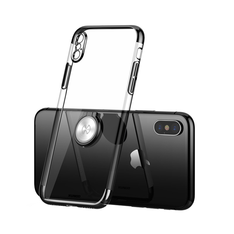 Luxury Clear Ring Holder Case For iphone X 10 Xundd Hard PC back Cover For iphone X case capa work with Magnetic car holder 10