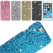 Honey Luxury Bling Glitter PC Case For iPhone 5 5s 5SE 6 6s Plus 6plus Skin Back Cover Shell prtector cell phone charm shine(China)