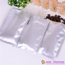 AISS-flat plastic bags,zip up bag,plastic bag packaging,Silver,14x19cm,seed / corn seed,food saver / foodsaver bags