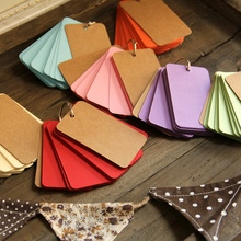 Note the word of the word card notes DIY Blank Kraft Name Card, Word card Thick Cardboard Corner Paper Word Cards size 9*5.5cm(China)