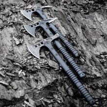 FBIQQ American Hawk Axe Tactical Tomahawk Outdoor Hunting Camping Axe Hands Tool Fire Axe Mountain-cutting