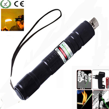 Green Laser Pointer 532 nm 10000m Hang-type Outdoor Lazer pen Long Distance Lasers Sight +Charger+18650 Battery