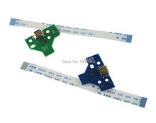4pcs=2sets JDS-001 JDS-011 12pin & 14pin LED Power Board with flex Ribbon Cable for Sony PS4 Controller Charging Board